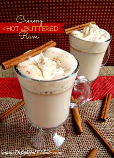 Sitting in front of the fireplace, opening gifts on Christmas morning and drinking a delicious Creamy Hot Buttered Rum!  It doesn't get much better than this!