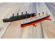 RMS TITANIC - scale 1/1000 by vandragon_de - Thingiverse