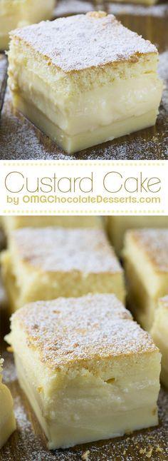 Vanilla Magic Custard Cake | Homemade Triple Layer Vanilla Cake Recipe