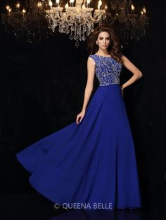 A-Line Princess Scoop Sleeveless Beading Floor-Length Chiffon Dresses Cheap  Prom Dresses 664f2d2e471d