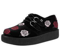 Chaussures Creepers Fleurs Emp Noir-rouge isQMj3J