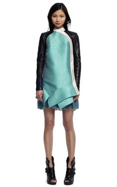 Proenza Schouler Long Sleeve Standing Collar Dress