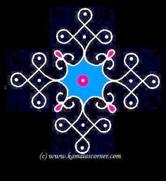 Kolangal: Kolam No.458 - This website has many great examples of Kolam/Rangoli patterns