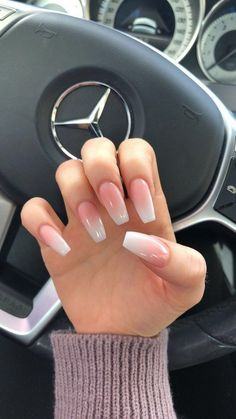 89 Best Natural Ombre Nails Manicure Ideas You Must Try ., 89 Best Natural Ombre Nails Manicure Ideas You Must Try . - # Manicure Ideas # Must # Nails. Best Acrylic Nails, Cute Acrylic Nails, Acrylic Nail Designs, Natural Acrylic Nails, Natural Manicure, French Tip Acrylic Nails, Acrylic Art, Painted Acrylic Nails, Holiday Acrylic Nails