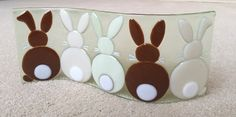 Fused glass - Easter bunnies