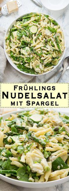 Direkt zum Rezept Wenn der Frühling endlich da ist, empfehle ich Euch diesen Nudelsalat mit Spargel. Das Beste an diesem knackigen Frühlingssalat sind der grüne Spargel und die Zucchini. Ich habe m…
