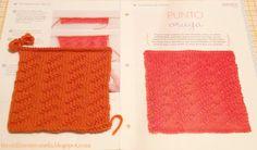 Cuadrado nº 15 de mi manta: PUNTO ORUGA.  #tricotfacilycreativo #punto #knitting #aprendiendoahacerpunto #squares #blanquet #teconlimonycanela