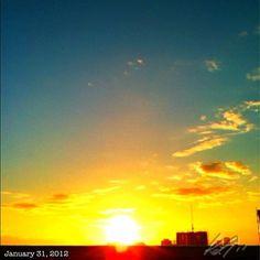 1月最後の朝焼け #sunrise #philippines #sky #cloud #雲 #空