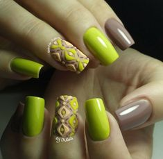 Accurate nails, Beach nails, Beautiful nails 2016, Decorative nails, Dimension nails, Festive nails, Lime gel nail, Office nails