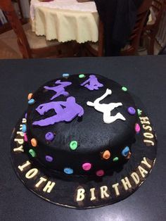 My sons 10th Birthday Parkour cake