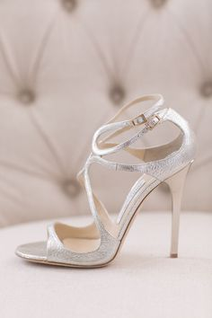 Sparkly choos #shoes | Romantic New York Wedding at Water's Edge from Kelly Kollar Photography  Read more - http://www.stylemepretty.com/new-york-weddings/2013/11/04/romantic-new-york-wedding-at-waters-edge-from-kelly-kollar-photography/