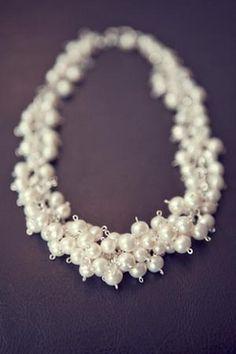 collar perlas - for my june birthday.