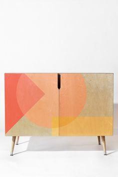 home accessories bathroom Iveta Abolina Peach Cobbler II Credenza Art Furniture, Upcycled Furniture, Furniture Projects, Furniture Makeover, Painted Furniture, Furniture Design, Patterned Furniture, Interiores Art Deco, Muebles Living