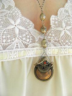 egyptian perfume bottle necklace