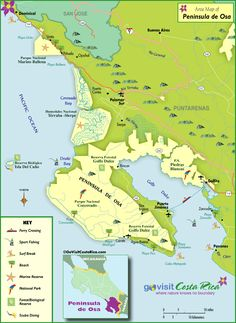 We help you plan your trip to Costa Rica with unique maps of Osa Peninsula & Drake Bay Map