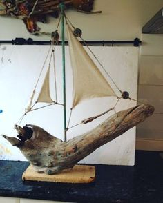 Bounty #driftwood #boat #canvas# lets sail to far North Queensland !!! #charleswilcox