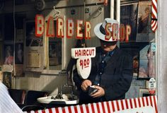 Fred Herzog    Barber  Ink Jet Print   20 x 29.5 in. image size  1967  Edition of 20  21011