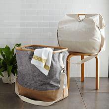 Bamboo Foldable Laundry Hamper