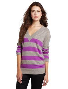 100% Cashmere Striped Boy Friend Sweater by Christopher Fischer