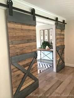 Love these double sliding barn doors!