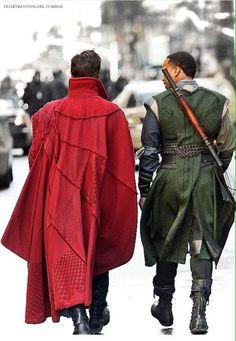 Dr Strange and Mordo Marvel Comic Universe, Marvel Cinematic Universe, Dr Strange Costume, Dr Stange, Cloak Of Levitation, Mr Doctor, The Great Doctor, Marvel Films, Movie Costumes
