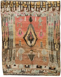 The colors in this vintage Moroccan rug are so good. I'd love to build a room around this palette.