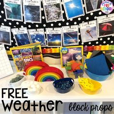 Weather themed STEM I Can Build Challenges for the science, STEM, or blocks center.FREE Weather themed STEM I Can Build Challenges for the science, STEM, or blocks center. Weather Activities Preschool, Science Center Preschool, Weather Kindergarten, Science Area, Weather Science, Weather Unit, Kindergarten Centers, Kindergarten Science, Science Activities