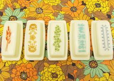 Rainbow of Pyrex Butter Dishes | Flickr