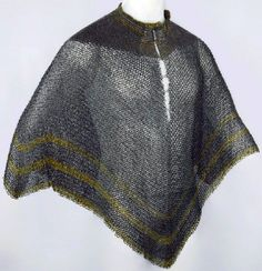 European (German) riveted mail Bishops mantle, 16th c, iron and copper alloy