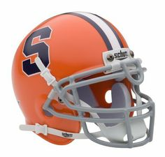 """Syracuse Orangemen NCAA Mini Authentic Football Helmet from Schutt by Schutt. $27.36. Real wire faceguard. Finely crafted miniature of actual game helmet. Complete interior pad set. Officially Licensed Product. Approximately 1/2 scale of actual size. These mini helmets are finely crafted versions of the actual competition helmets. They are approximately 4 1/2""""x5"""" in size. They have complete detail, including realistic wire facemasks. Schutt mini's are a perfect c..."""