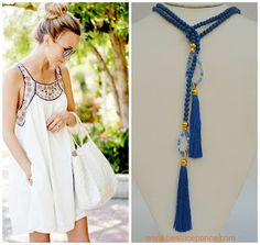 Don't forget it's still summer! #tassel #trendsetter #accessorios #moda  #royalblue #accessorize  #lookbook #boholook #instyle #trendy #summerlook #miami #beachday #brunch #ootd #styling #fashion #outfitpost #trendtips #outfitideas
