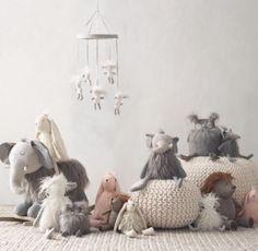 Wooly Plush Lamb Mobile