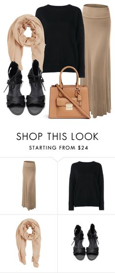 """""""hijabi outfit"""" by madihahnas ❤ liked on Polyvore featuring LE3NO, Frame Denim, MANGO and Michael Kors"""