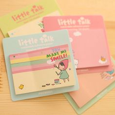 1pc Free ship! fresh and lovely cartoon N times stickers / sticky notes / creative paper notes/Memo Pads/4model