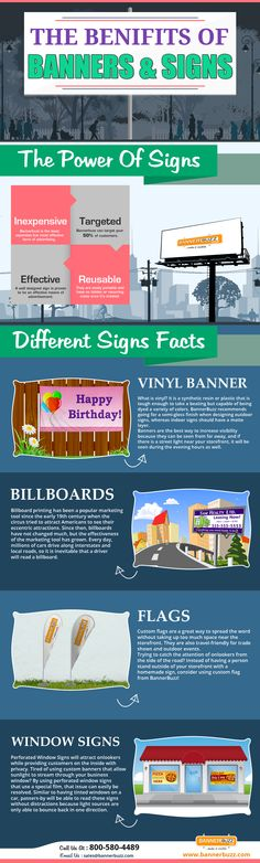 The Benefits of Banners & Signs   #Infographic #Banners #Advertising