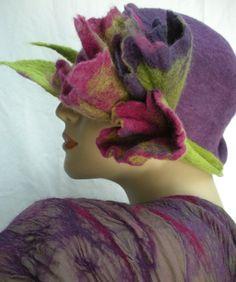 #nuno felted hat