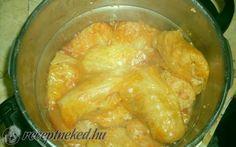 Töltött káposzta recept konyhájából - Receptneked.hu Shrimp, Chicken, Meat, Food, Essen, Yemek, Buffalo Chicken, Eten, Meals