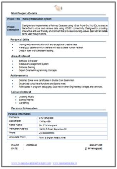 MCA Resume Format For Experience Download - http://www.resumecareer.info/mca-resume-format-for-experience-download-5/
