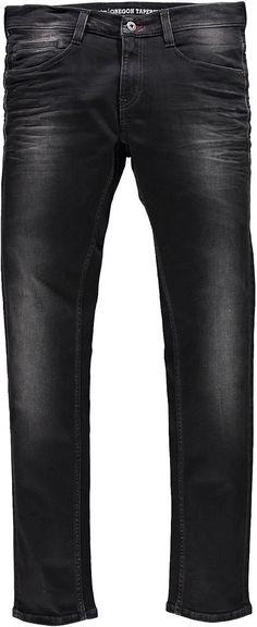 Schmal geschnittene 5-Pocket-Jeans mit gemäßigter Leibhöhe und schmalem Beinverlauf. Die Jeans hat leichte Used-Effekte und Buffys sowie einen Reißverschluss. Black/Black Stretch, 98 % Baumwolle, 2 % Elasthan....