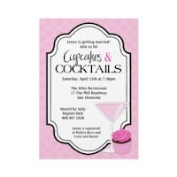 Bridal Shower Theme: Cupcakes & Cocktails Invitations