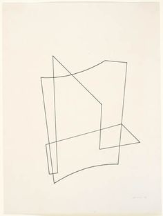 The economy and simplicity of this simple (as if) drawing are so powerful and beautiful. Josef Albers, Untitled, 1936 Pen and ink. JAAF: x cm x inches) The Josef and Anni Albers Foundation / Artists Rights Society (ARS), New York Abstract Drawings, Art Drawings, Abstract Art, Joseph Albers, Modern Art, Contemporary Art, Ligne Claire, Art Boards, Painting & Drawing