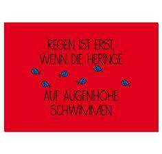 Postkarte Heringe - Dat is Hamburger Schnack... ganz einfach