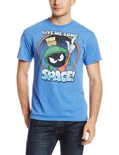 Looney Tunes Men's Need More Space T-Shirt, Royal Heather, Small Marvin The Martian, Hat Shop, S Man, Looney Tunes, Graphic Tees, Mens Fashion, My Style, Mens Tops, T Shirt