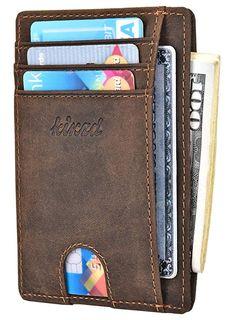 Credit Card Holder Geldbörsen & Etuis Rfid Blocking Money Wallets Button Locking Slim Leather Card