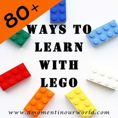 80+ ways to use lego for learning.