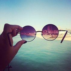 Rose-colored glasses.