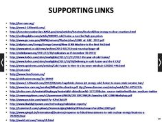 Links to check out regarding LENR, low energy nuclear reactions