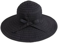 Simplicity Women's Summer UPF 50  Roll Up Floppy Beach Hat with Ribbon Black >>> More details @ http://www.amazon.com/gp/product/B012VPSF5S/?tag=passion4fashion003e-20&za=240716031308