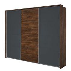 Zweefdeurkast Bernau - Metallic grijs - 271cm (3-deurs)