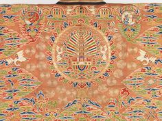Daoist Priests Robe detail. Qing Dynasty. (1644-1911) 17th-18th Century. China. Satin, metallic thread.